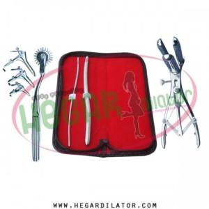 Hegar uterine dilator 3-4, 9-10, pinwheel, mathieu speculum, grave 3pcs
