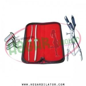 Hegar uterine dilator 3-4, 7-8, mathieu anal speculum, collin 3pcs