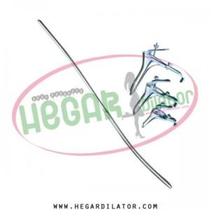 Hegar uterine dilator 3-4, grave speculum 3pcs,